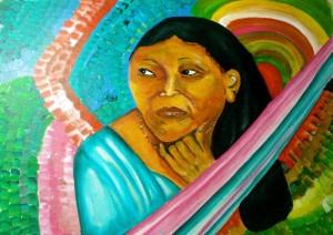 mujer wararo 300x212 Ausstellungseröffnung: Malerei der venezolanischen Künstlerin JADE